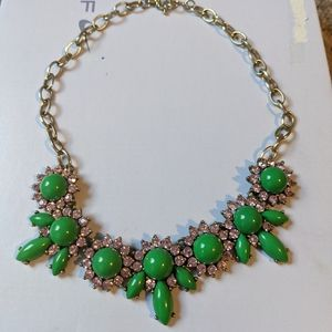 J Crew Green Statement Necklace